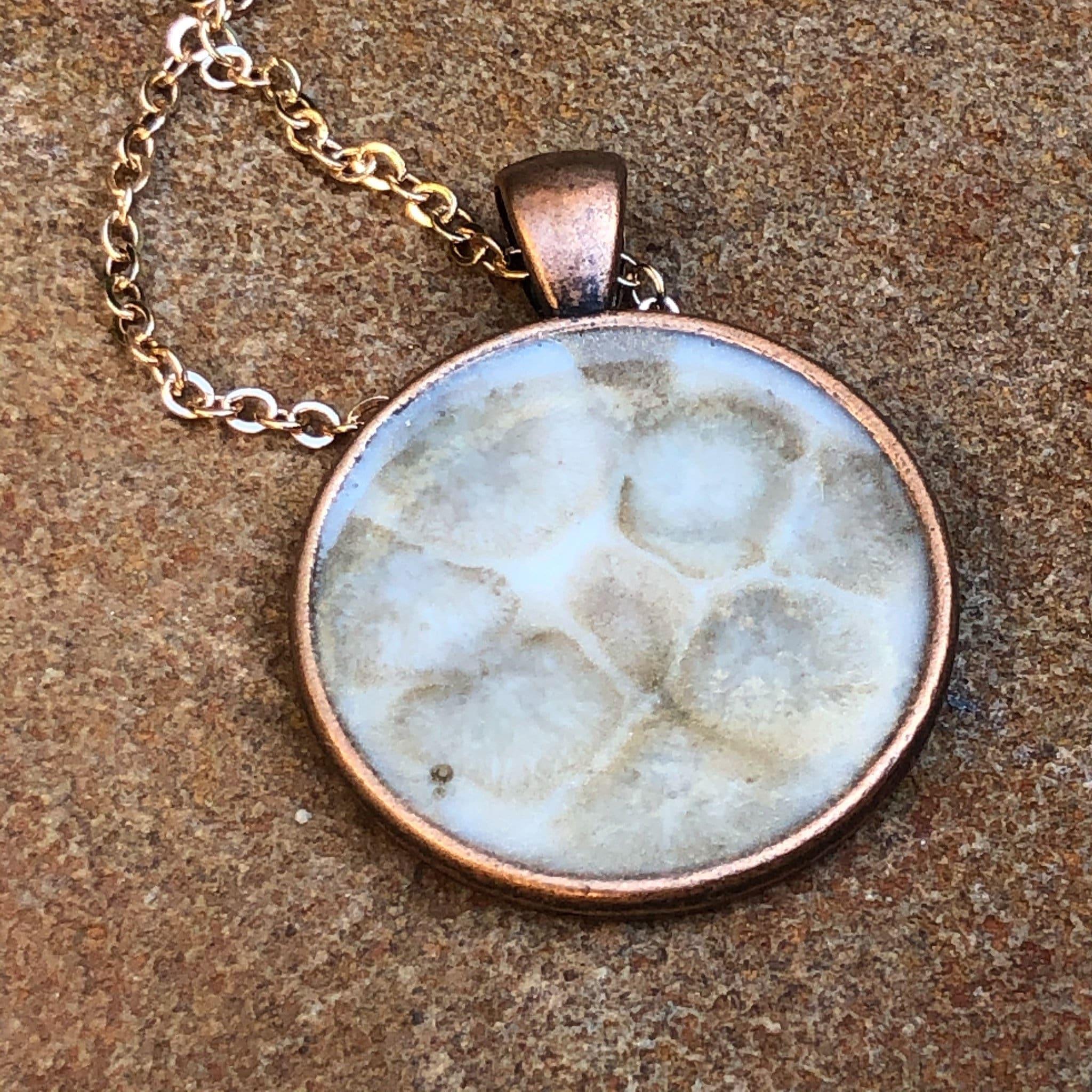 One Of A Kind Acrylic Pour Pendant Necklace sp2