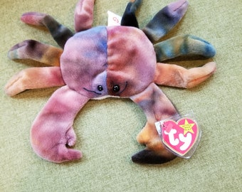 49014c7d94a RARE ORIGINAL Ty Beanie Baby RETIRED 1996 Claude the Crab- Mint Condition.  RossNRachel  35