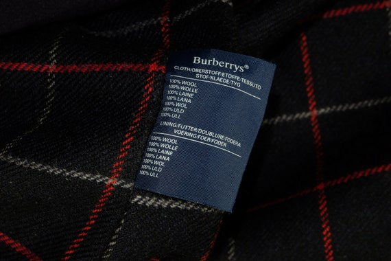 Burberry Wool Heavy Coat Belted Navy - image 7