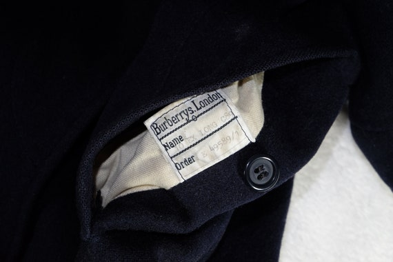 Burberry Wool Heavy Coat Belted Navy - image 5