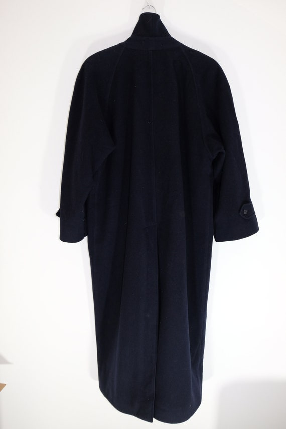 Burberry Wool Heavy Coat Belted Navy - image 2