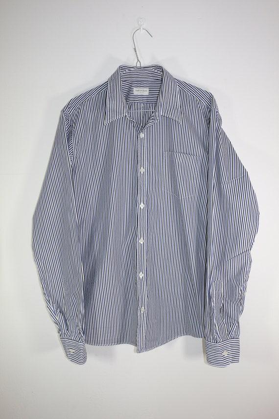 Dries Van Noten Striped Button Up Shirt Lightweigh