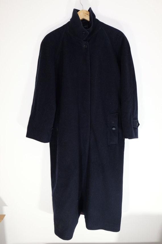 Burberry Wool Heavy Coat Belted Navy