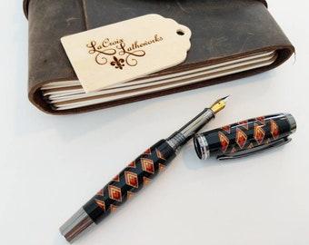 Thread wrapped fountain pen