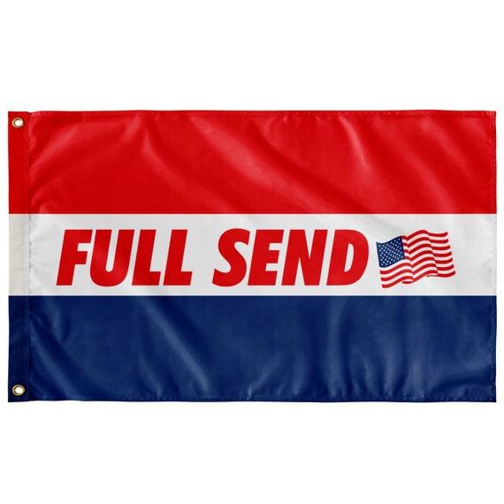 Usa Full Send Nelk Boys Flag - 3' X 5' Feet