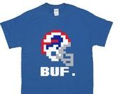 Buffalo Football Tecmo Bowl 8 Bit T-Shirt Video Games Orchard Park Mafia Christmas Gift