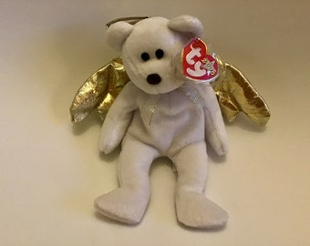 2f95b2eb5b9 EXTREMELY RARE Ty beanie babies halo II bear mint condition retired with  brown nose and black eyes error