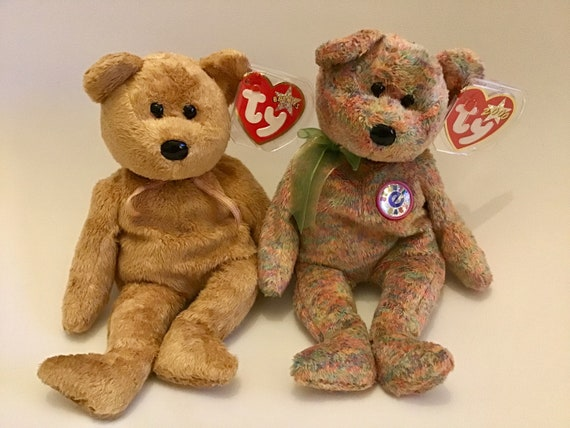 766b54fe172 Circa 1994  29.79 Pair of TY beanie babies. Both mint condition with tags.  Circa 2000 retired