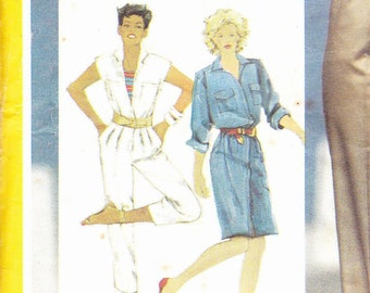 45c27001e0d1 Simplicity 6031 Sewing Pattern   Vintage 80 s Womans  Jumpsuit in two  lengths and dress   Miss Size 10 Dressmaking Pattern