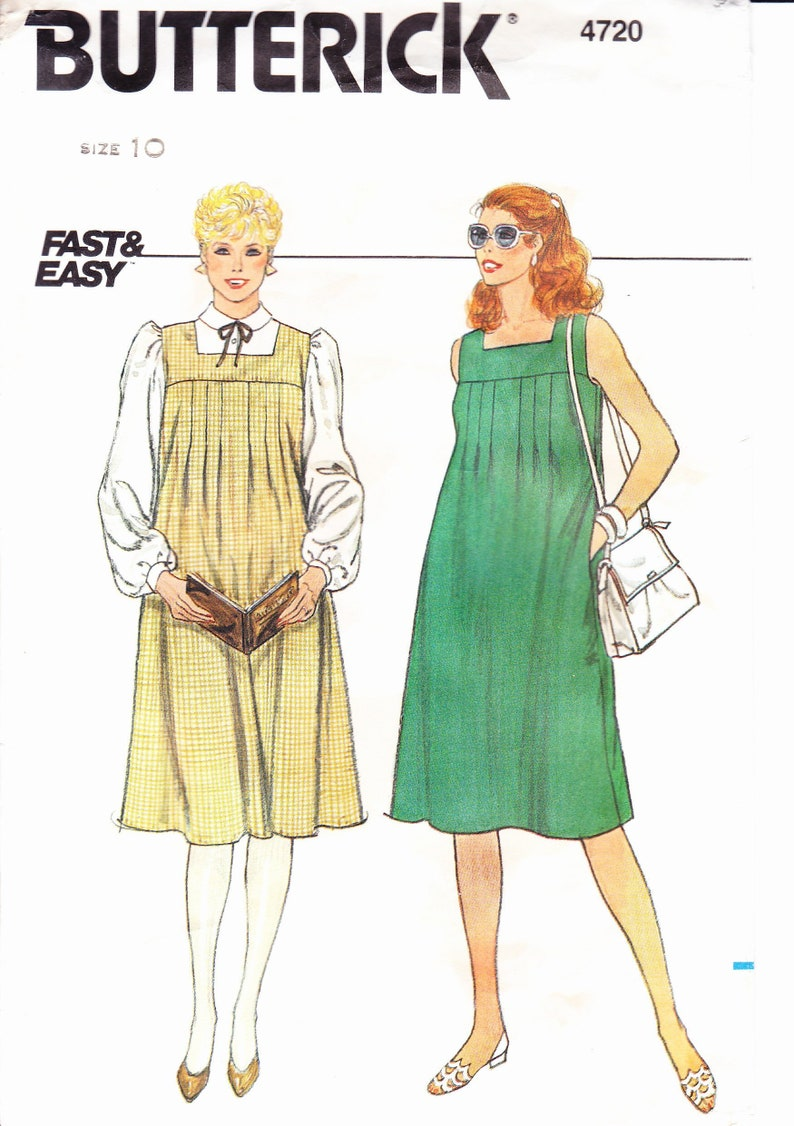ccbf40d2b4e Butterick 4720 Sewing Pattern Women s Vintage 80 s