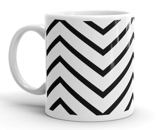 0598ca70d2f Black and White Zig Zag Coffee Mug