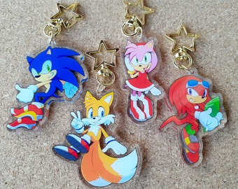 Sonic the Hedgehog 2.5'' Acrylic Charms (Sonic, Tails, Knuckles, Amy)