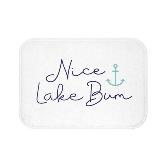 Lake House Decor Bath Mats And Rugs, Lake Life Bathroom Decor