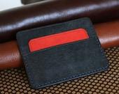 Minimalist leather cardholder 5 pockets on SALE, leather hand stitched wallet, front pocket credit card holder slim wallet