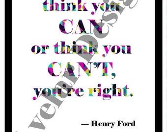Henry Ford Zitat Etsy