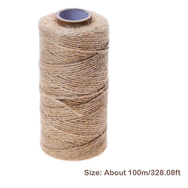 Natural Hemp Rope Jute Twine Burlap String Party Wedding Gift Wrapping Cords Thread DIY Scrapbooking Florists Craft Decor 100m