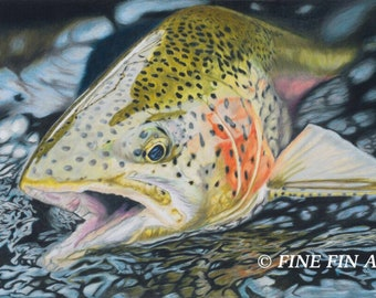 Swift Water Rainbow 13 x 20 limited edition fine art print
