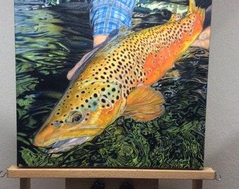 Brown Sugar 20x20 (New) Framed Canvas Giclee- PRINT ON DEMAND