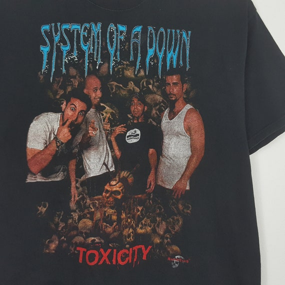 Vintage SYSTEM OF A DOWN American Rock Band Toxic… - image 2