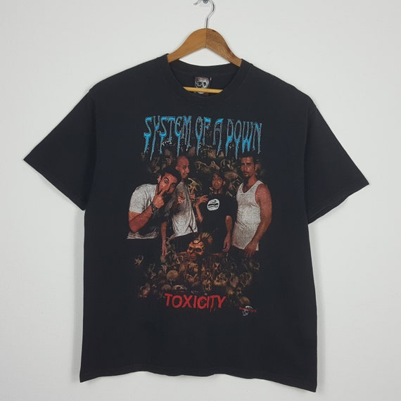 Vintage SYSTEM OF A DOWN American Rock Band Toxic… - image 1