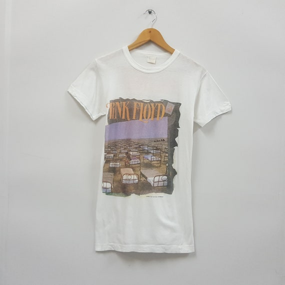 Vintage 80's PINK FLOYD English rock band world tour 88 t shirt