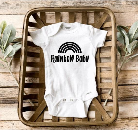 Baby Onesie Rainbow Onesie Pregnancy Reveal Rainbow Baby Pregnancy Announcement Bodysuit Baby Announcement Onesie His Plan Is Perfect