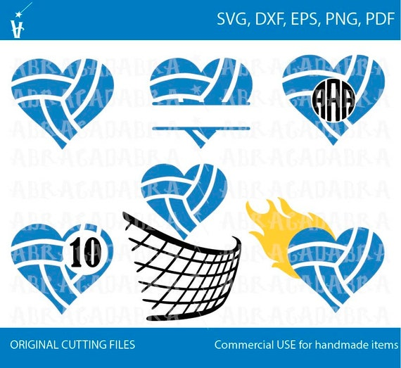 Volleyball Svg Digital File Sport Monogram Svg Volleyball Etsy