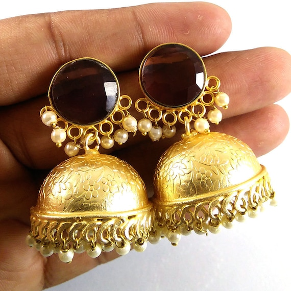 Oxidized Gold Plated  Hen Party Jhumka Jhumki Earrings Jewelry