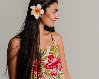Paradise white short dress, floral boho dress, floral dress, beach cover up, resort wear, summer dress