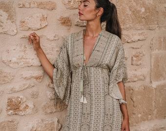 Vanilla Boho Caftan Summer Dress * ISIS DRESS *  Kaftan, resort wear, beach cover up, long dress
