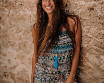 TAHITI JUMPSUIT  is perfect for summer days and evenings.