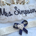 Personalized Wedding Garters Brides Something Blue Garter Non Slip Your Are Next