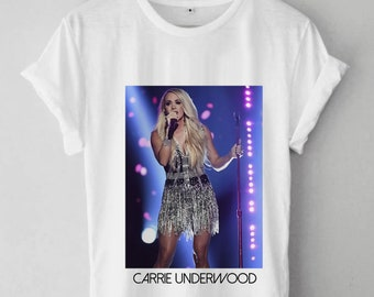 f59355782f93 Carrie Underwood Unisex T Shirt, Carrie Underwood Unisex Adult Clothing,Carrie  Underwood Design Hot Item Inspired Shirt