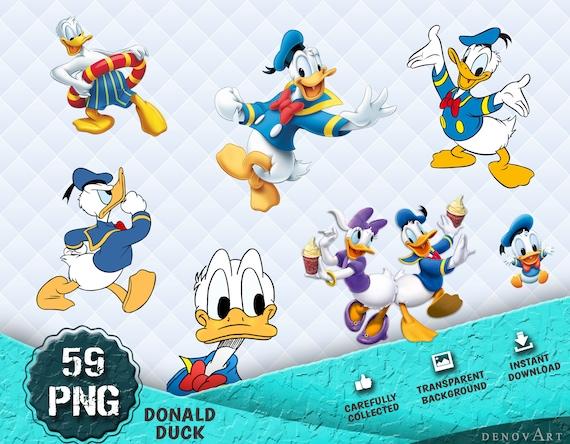 Donald Duck Disney Party Supplies Disney Donald Cliparts Donald Duck Clipart Instant DL Transparent Background Donald Duck PNG Images