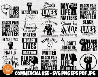 Black Lives Svg Etsy