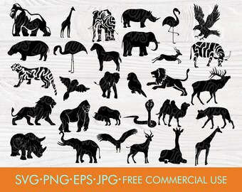 photo relating to Free Printable Forest Animal Silhouettes called Animal silhouette Etsy