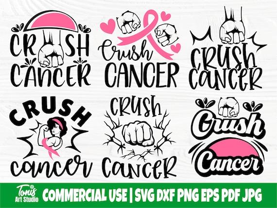 Crush Cancer SVG Bundle, Breast Cancer Svg