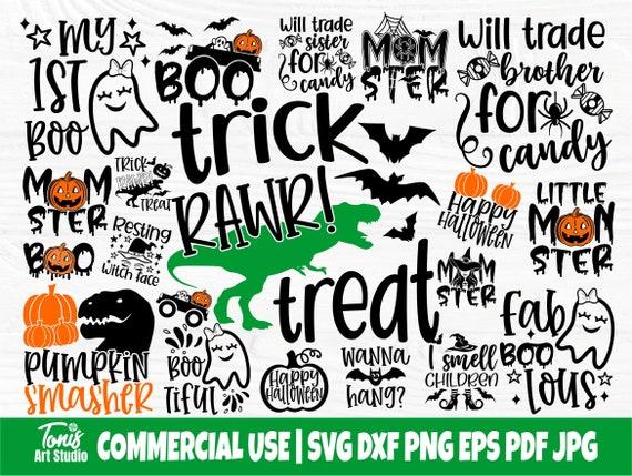 Halloween Bundle SVG Cut Files, Boo Svg, Ghost Svg