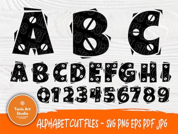 Construction Font SVG | Svg Cut Files | Construction Alphabet | Construction Letters Svg | Birthday Construction Theme Svg | Numbers Svg