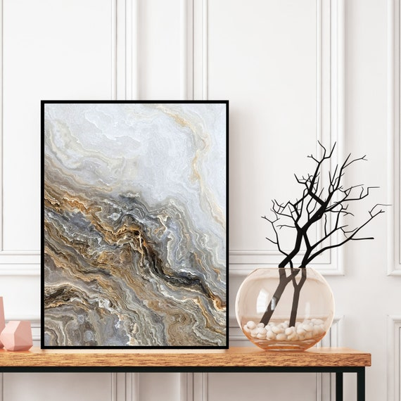 Agate Wall Art Print, Natural Marble Decor, Digital Download, Elegant Modern Art, Onyx Photography Wall Art, Geode Poster, Marble Print.