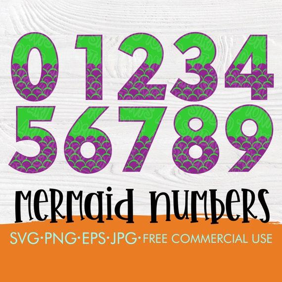 Mermaid number SVG | Mermaid pattern numbers | 0 1 2 3 4 5 6 7 8 9 svg | Mermaid svg | Instant download | Baby mermaid svg | Milestones svg
