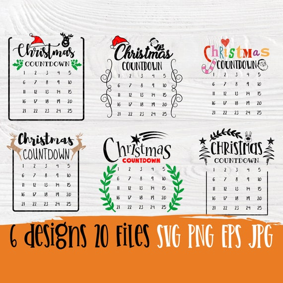 Christmas countdown SVG | Christmas svg | Christmas advent calendar svg | Days till christmas svg | Cut files for cricut and silhouette