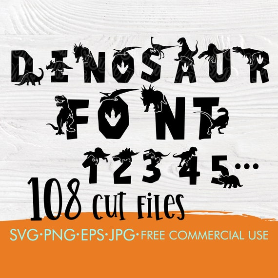Dinosaur font SVG | Dinosaur alphabet svg | Dinosaur letters and numbers | Dinosaur cut files | Cut files for cricut and silhouette