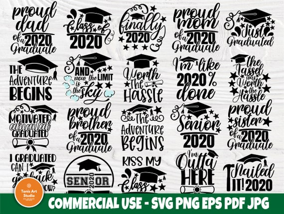 Graduation 2020 SVG, Class of 2020 Svg, Senior Svg