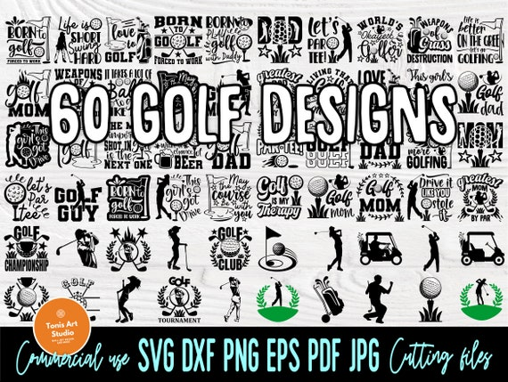 Golf SVG Bundle, Golfing Svg, Golfer Svg Quotes