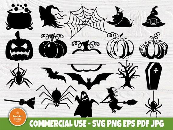 Halloween SVG Bundle, Witch Svg, Pumpkin Monogram