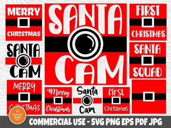 Santa Cam SVG, Christmas Svg Bundle, Svg Cut Files