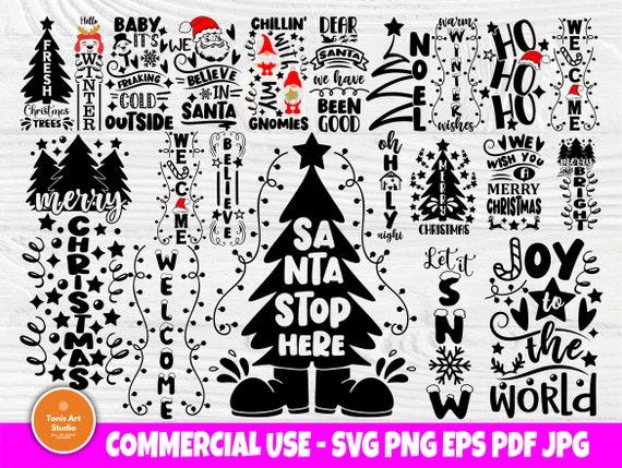 Christmas Porch Sign SVG Bundle, Svg Cut Files