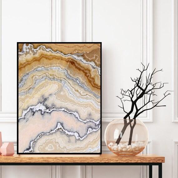 Agate Wall Art, Geode Print, Natural Marble Decor, Digital Download, Elegant Modern Art, Onyx Photography, Geode Wall Art, Marble Print.