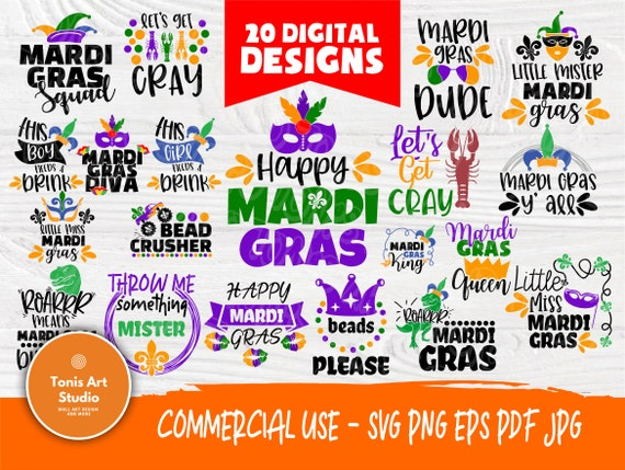 Mardi Gras SVG Bundle | Mardi Gras Svg | Mardi Gras Signs | Mardi Gras Cut Files for Crafters | Svg Files for Cricut and Silhouette Cameo